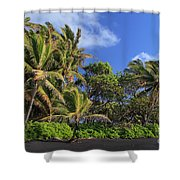 Hana Palm Tree Grove Shower Curtain by Inge Johnsson