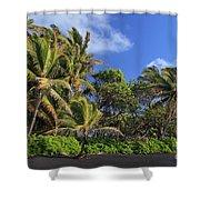 Hana Palm Tree Grove Shower Curtain by Inge Johnsson
