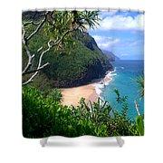 Hanakapiai Beach Shower Curtain by Brian Harig