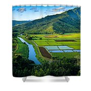Hanalei Valley Shower Curtain by Inge Johnsson