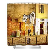 Hands On Me Shower Curtain by Valentino Visentini