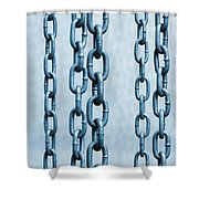 Hanged Chains Shower Curtain by Carlos Caetano