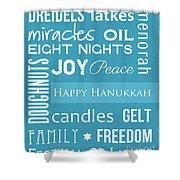 Hanukkah Fun Shower Curtain by Linda Woods