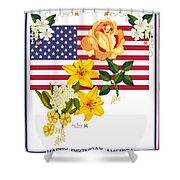 Happy Birthday America 2013 Shower Curtain by Anne Norskog
