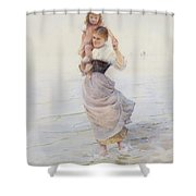 Happy Days  Shower Curtain by Hector Caffieri