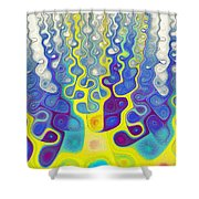Happy Felt Shower Curtain by Anastasiya Malakhova
