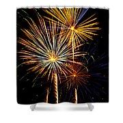 Happy Fourth of July   Shower Curtain by Saija  Lehtonen