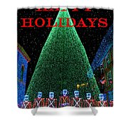 Happy Holidays Shower Curtain by David Lee Thompson