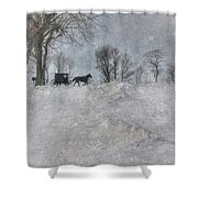 Happy Holidays From Pa Shower Curtain by Lori Deiter