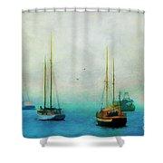 Harbor Fog Shower Curtain by Darren Fisher