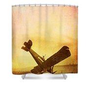 Hard Landing Shower Curtain by Edward Fielding