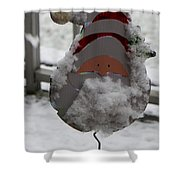 HardWorking Santa Shower Curtain by Sonali Gangane