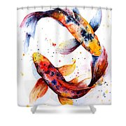 Harmony Shower Curtain by Zaira Dzhaubaeva