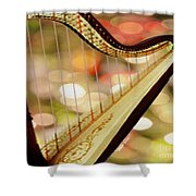 Harp Shower Curtain by Cheryl Young