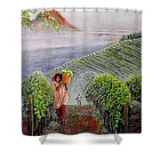 Harvest At Dawn Shower Curtain by Michael Durst