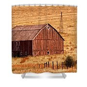 Harvest Barn Shower Curtain by Mary Jo Allen