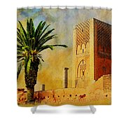 Hassan Tower Shower Curtain by Catf