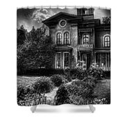 Haunted - Haunted House Shower Curtain by Mike Savad