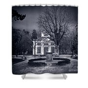 Haunted House Shower Curtain by Michal Bednarek