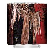 Hauntings Shower Curtain by Joan  Minchak