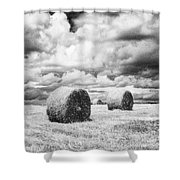 Haybales Uk Shower Curtain by Jon Boyes