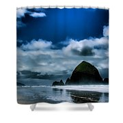 Haystack Rock IIi Shower Curtain by David Patterson