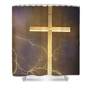 He Has Risen Shower Curtain by James BO  Insogna