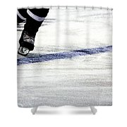 He Skates Shower Curtain by Karol Livote