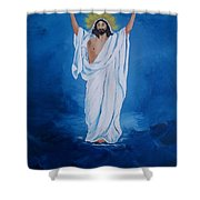 He Walked on Water Shower Curtain by Sharon Duguay