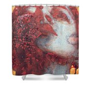 Head Shower Curtain by Graham Dean