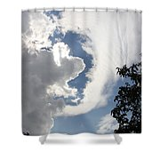 Head In The Clouds Shower Curtain by Jackie Mestrom
