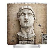 Head Of Constantine Shower Curtain by Joan Carroll