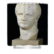 Head Of Titus Shower Curtain by Anonymous