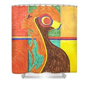 Headphones Nude  Shower Curtain by Stormm Bradshaw
