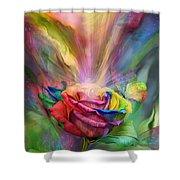 Healing Rose Shower Curtain by Carol Cavalaris