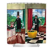 Healthcare Then And Now Shower Curtain by Randol Burns