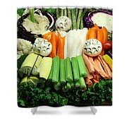 Healthy Veggie Snack Platter - 5d20688 Shower Curtain by Wingsdomain Art and Photography