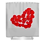 Heart Petals Shower Curtain by Cheryl Young
