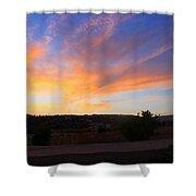 Heart Sunset Shower Curtain by Augusta Stylianou