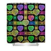 Hearts Shower Curtain by Sandy Keeton