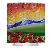 Heaven On Earth Shower Curtain by Cindy Thornton