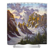 Heavenly Light Shower Curtain by Mohamed Hirji