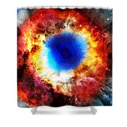 Helix Nebula Shower Curtain by Dan Sproul
