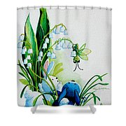 Hello There Shower Curtain by Hanne Lore Koehler