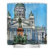 Helsinki Finland Shower Curtain by Irina Sztukowski