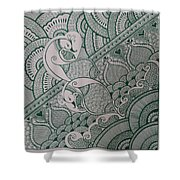 Henna Shower Curtain by M Ande
