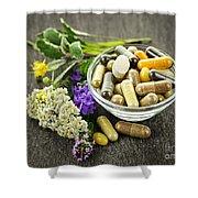 Herbal medicine and herbs Shower Curtain by Elena Elisseeva