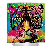 Here Kitty Kitty Shower Curtain by Gary Grayson