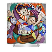 Here My Prayer Shower Curtain by Anthony Falbo