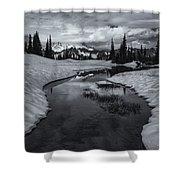 Hidden Beneath The Clouds Shower Curtain by Mike  Dawson